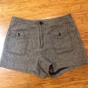 Anthropologie Cartonnier hi-rise blue shorts 8 EUC